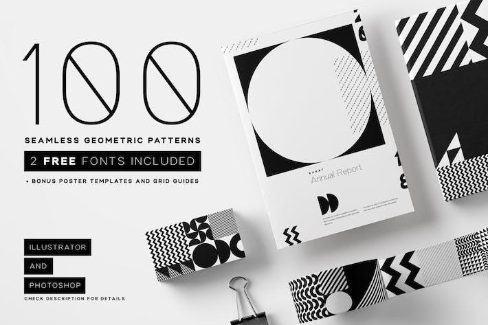 Thumbnail for 100 seamless geometric patterns