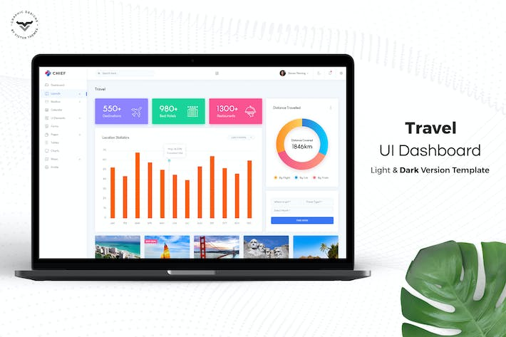 Thumbnail for Travel Admin Dashboard UI Kit