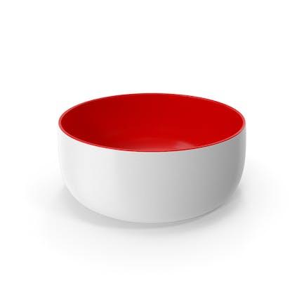 Керамическая чаша Красный Белый