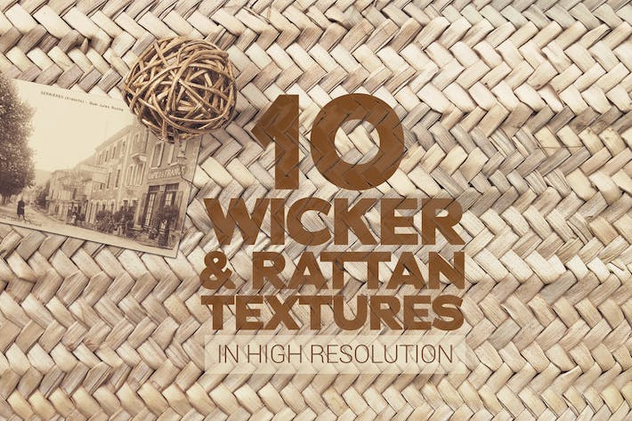 Thumbnail for Wicker & Rattan Textures x10