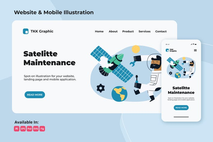 Thumbnail for Satellite maintenance-internet problem web&mobile