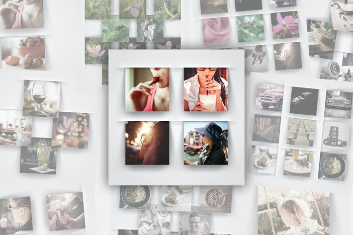Thumbnail for Modern Square Photo Frame Templates