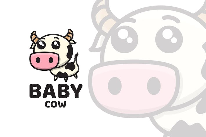Thumbnail for Baby Cow Cute Logo Template