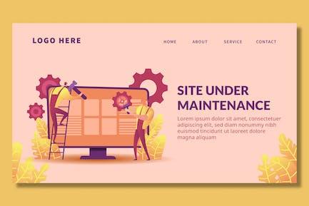 Site Maintenance - Landing Page