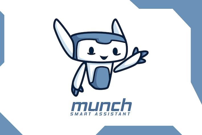 Thumbnail for Cute Modern Robot Mascot Logo