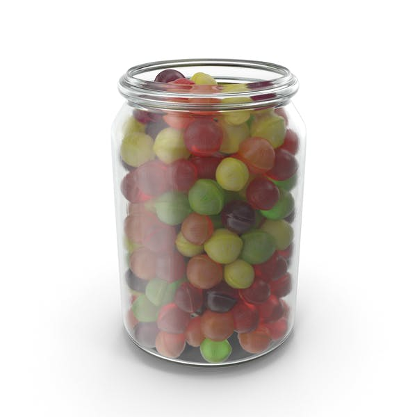 Jar with Spherical Hard Candy
