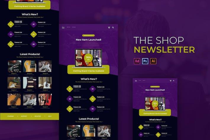 The Shop | Modèle Newsletter