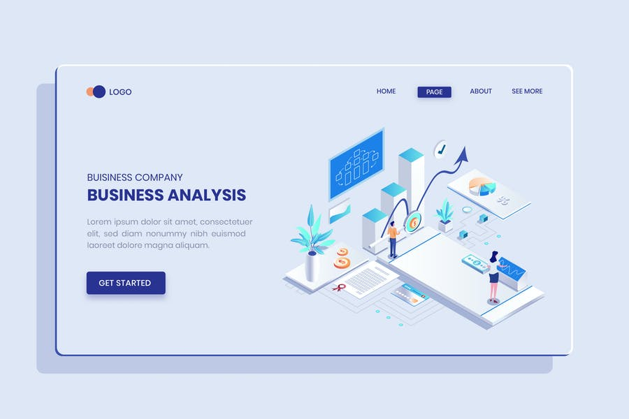 Business Strategy Isometric Vector Concept