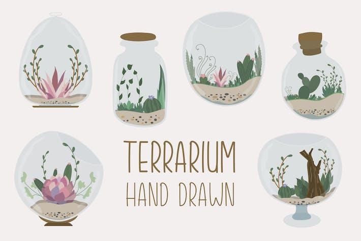 Terrarium Hand Drawn