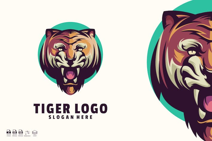 Thumbnail for Tiger logo template