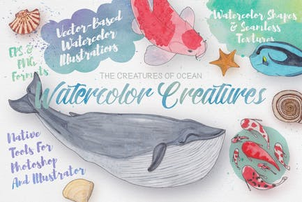 Watercolor Creatures vol. 3