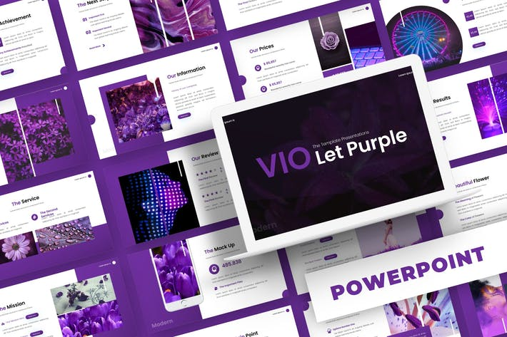 Thumbnail for Violet Purple - Powerpoint Template