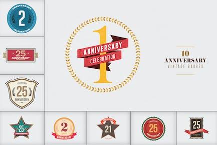Jahrestag Vintage Abzeichen