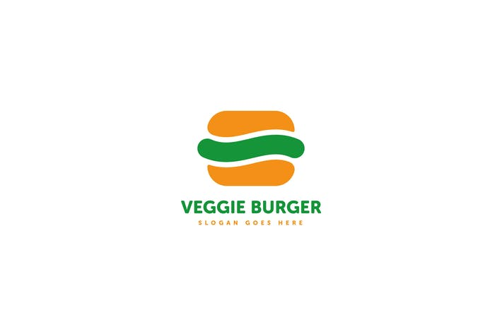 Thumbnail for Veggie Burger Logo Template