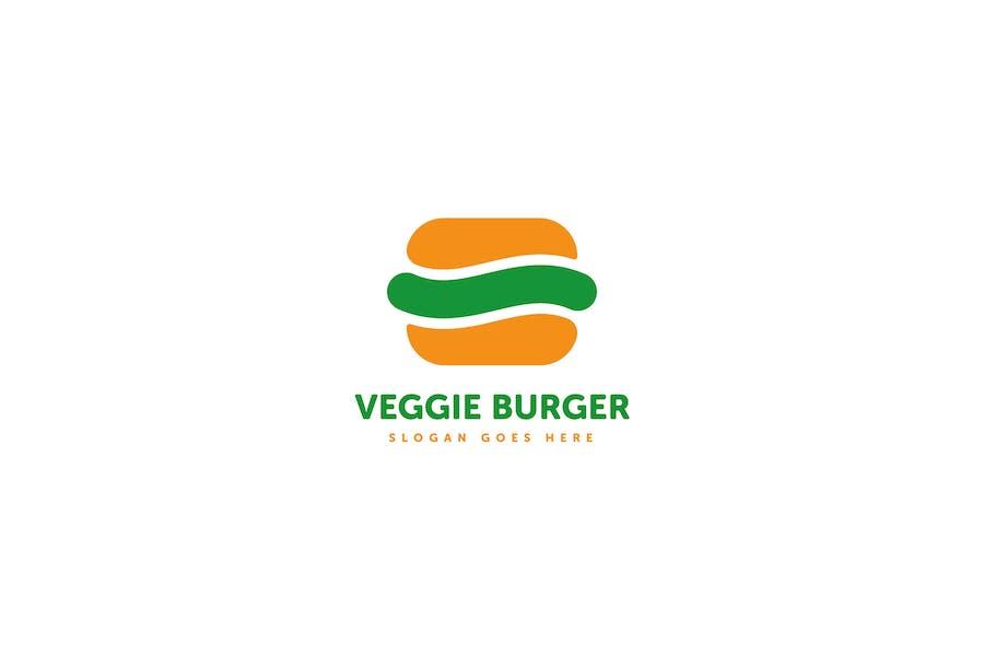 Veggie Burger Logo Template