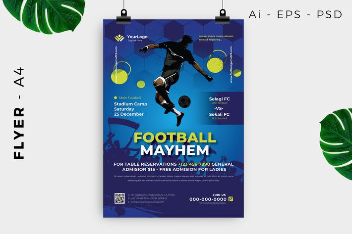 Thumbnail for Soccer Competition Flyer Design