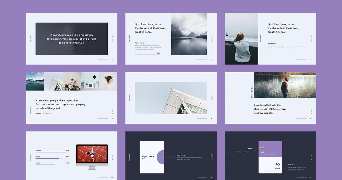 Download Grace - Minimal & Fashion Template (PPTX) by SimpleSmart