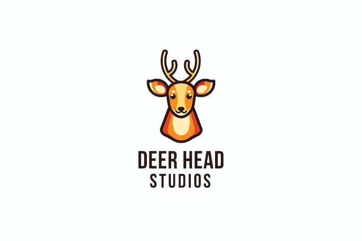 Thumbnail for Шаблон логотипа студии оленей головы