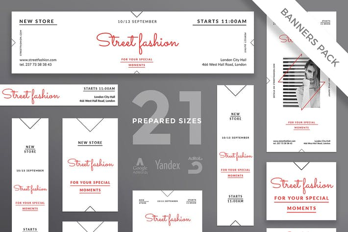 Fashion Store Banner Pack Template