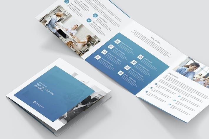 Thumbnail for Brochure – Creative Marketing Tri-Fold Square