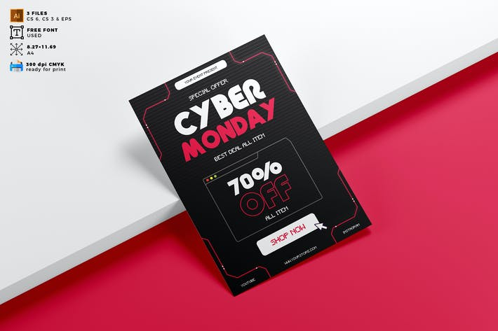 Cyber Monday Flyer Template Vol. 01