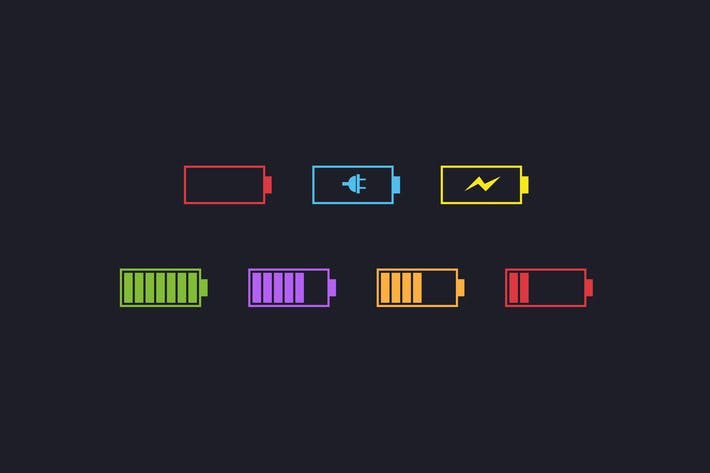 Thumbnail for 7 Simple Battery Icons