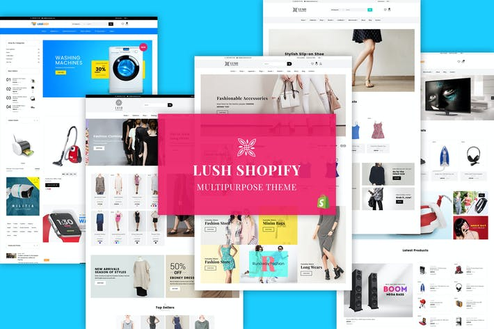 Thumbnail for LUSH Shopify - Многоцелевая Тема Shopify