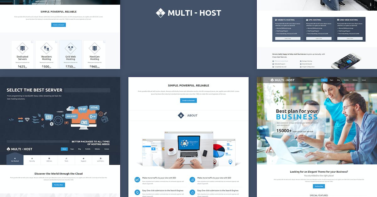 Download Multi Host - Responsive Hosting Template by BuddhaThemes