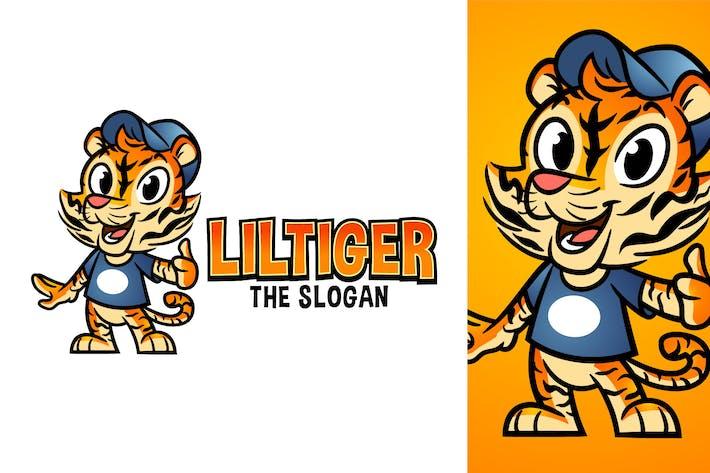 Thumbnail for Cartoon Cute Friendly Tiger Character Mascot Logo