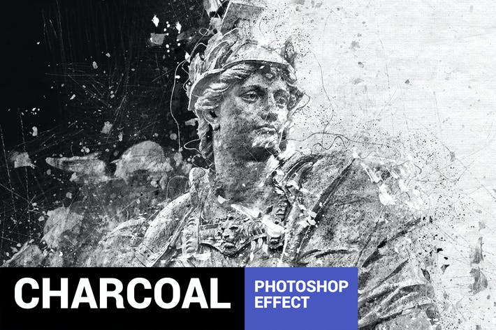 Thumbnail for Graphitum - Charcoal Sketch Photoshop Action