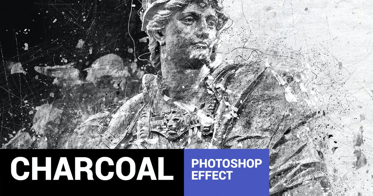 Download Graphitum - Charcoal Sketch Photoshop Action by profactions