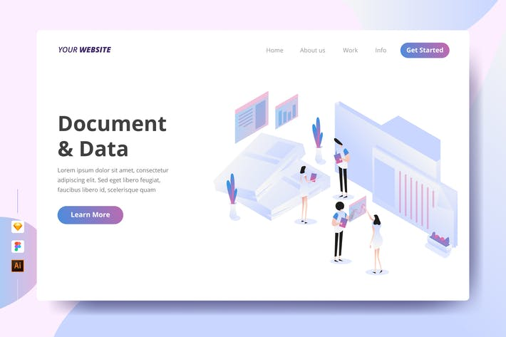 Thumbnail for Document & Data - Landing Page