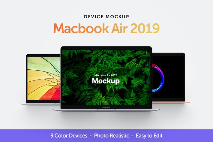 Thumbnail for Macbook Air 2019 Mockup