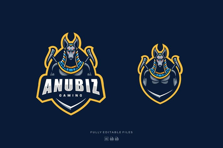 Thumbnail for Anubis Sports and E-sports Style Logo Template