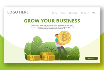 Cryptocurrency Investing - Landing Page