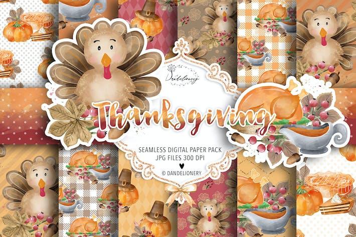 Thumbnail for Paquete de papel digital de Acción de Gracias