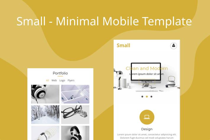 Thumbnail for Small - Minimal Mobile Template