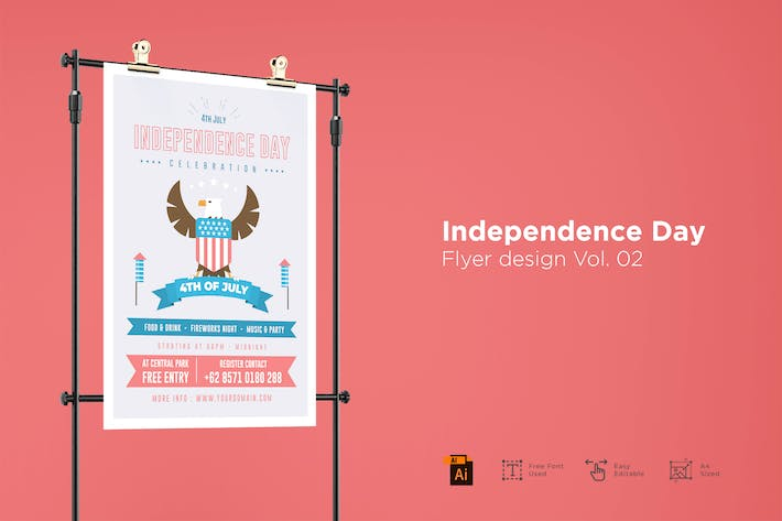 Thumbnail for Independence Day Folleto Design Vol. 02