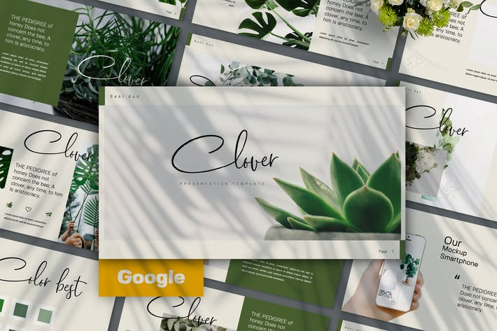 Cover Image For CLOVER - Creative Google Slide