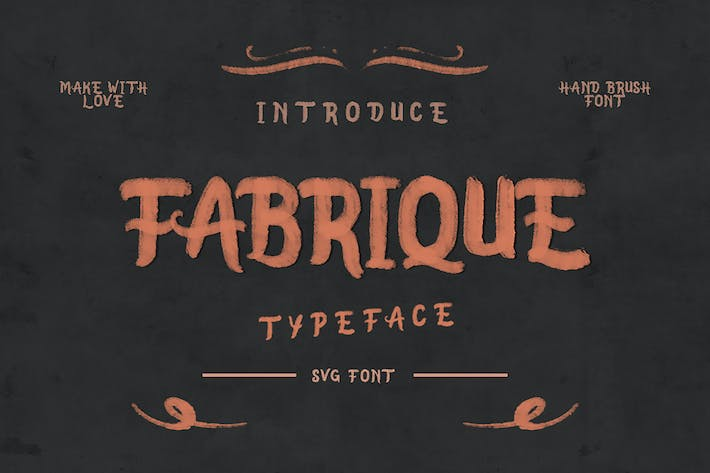 Thumbnail for Fabrique SVG Font
