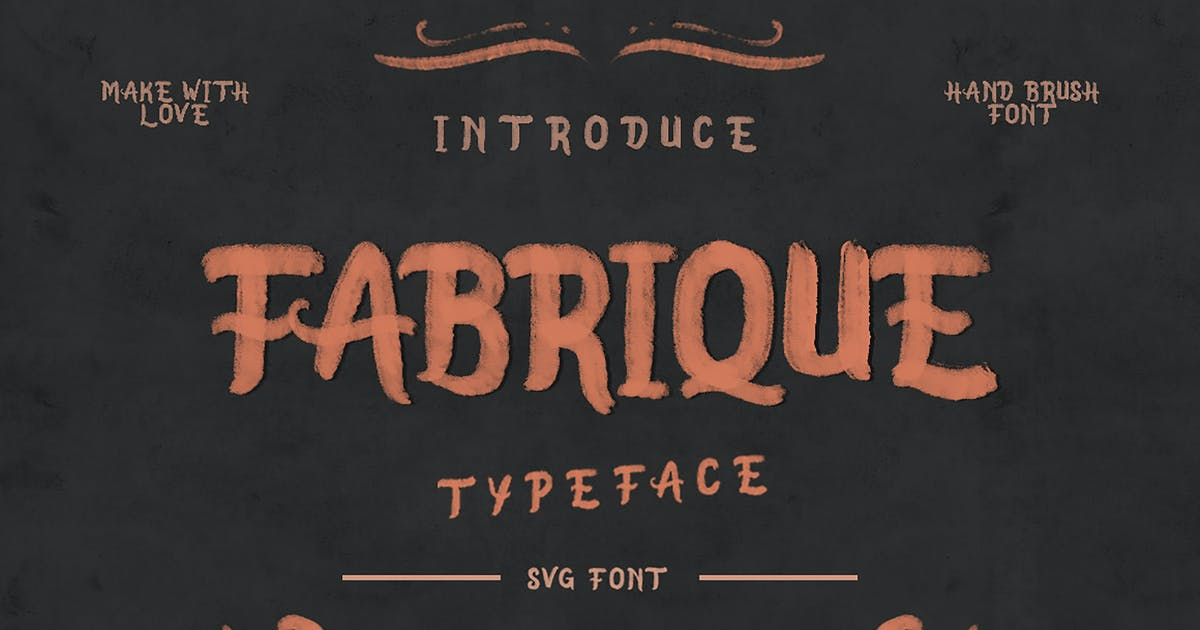 Download Fabrique SVG Font by giemons
