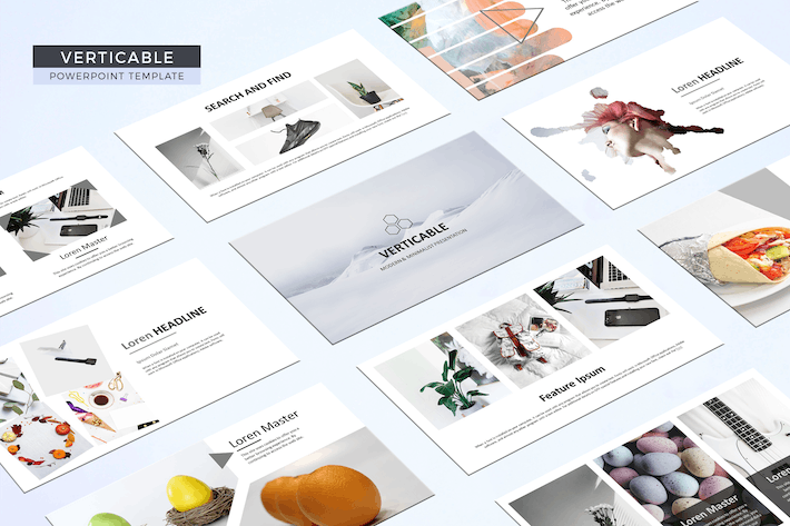 Thumbnail for Verticable Powerpoint Template