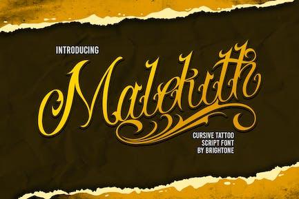 Malekith - Tattoo font