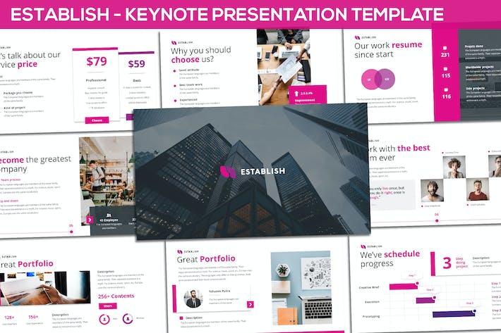 Thumbnail for Establish - Creative Keynote Template