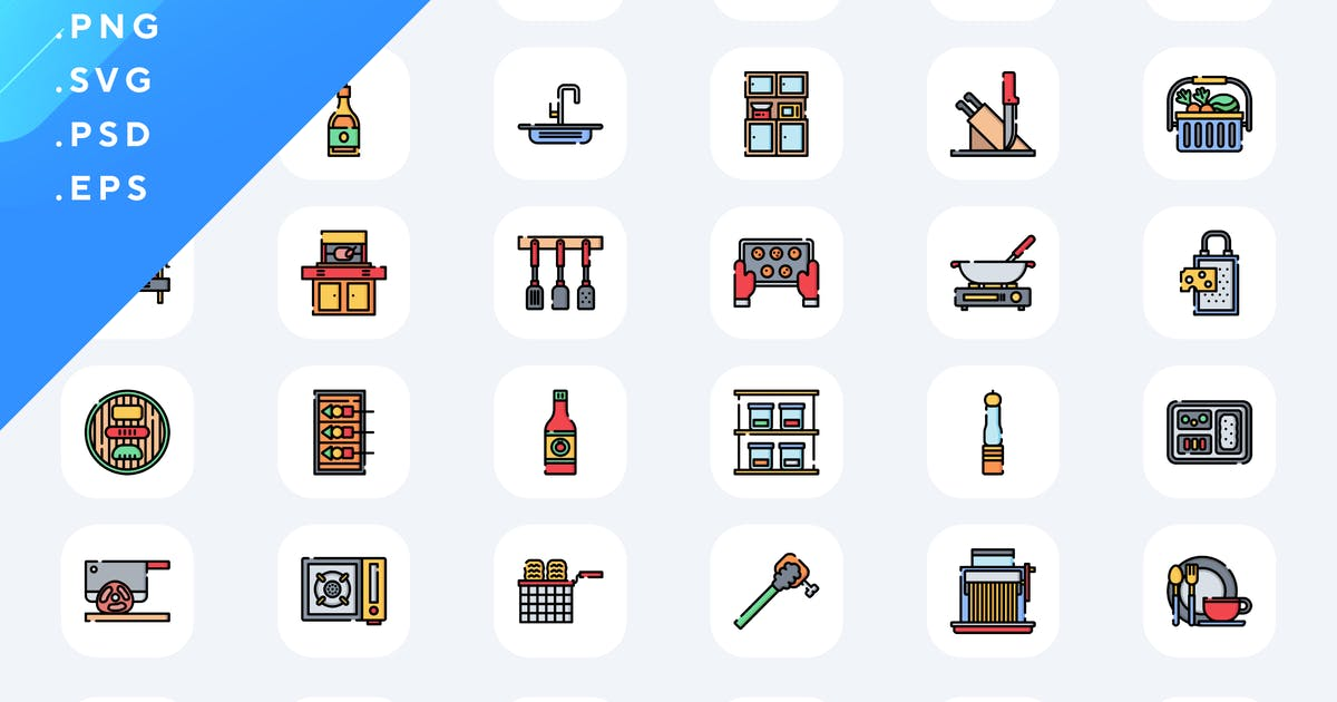 Download 50 Cooking Time Icons by Guapoo