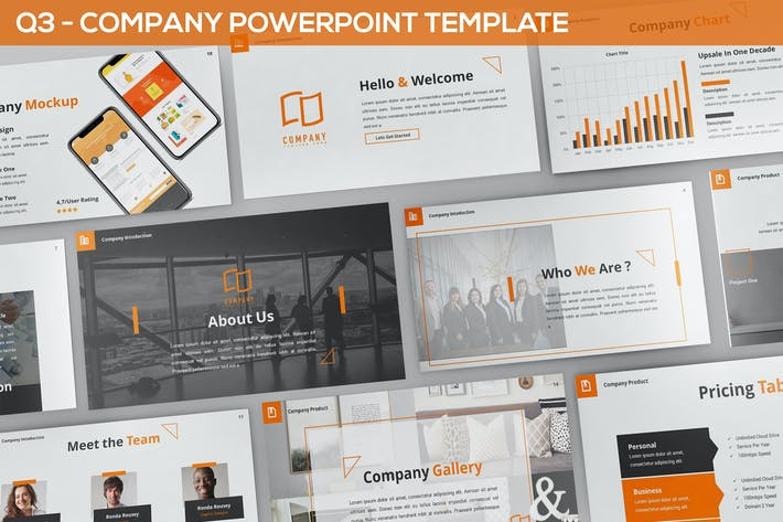 Thumbnail for Q3 - Company Powerpoint Template