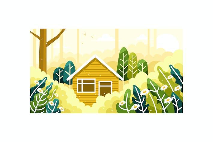 Thumbnail for Haus in der Mitte eines schönen Waldes