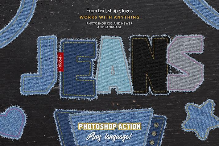Thumbnail for Torn Jeans Denim - Photoshop Action