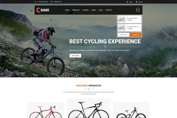 Thumbnail for Rideo eCommerce PSD Template