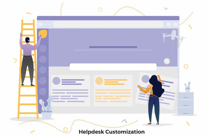 Cover Image For Helpdesk Customization Illustrationen CRM